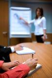 Geschäftsleute am Seminar Stockfotos