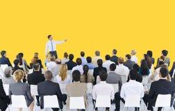 Geschäftsleute Seminar-Konferenz-Sitzungs-Darstellungs-Konzept- lizenzfreie stockfotografie