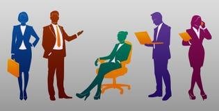 Geschäftsleute silhouettieren Satz Lizenzfreie Stockfotografie