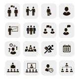 Geschäftsleute Sitzungen und Konferenzen iconsŒŒ Lizenzfreie Stockfotografie