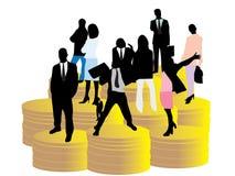 Geschäftsleute Stellung lizenzfreie abbildung