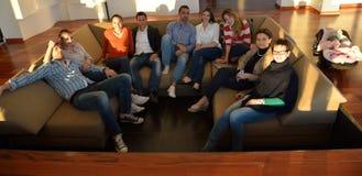 Geschäftsleute Team auf Sitzung Lizenzfreie Stockbilder