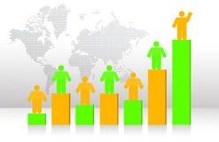 Geschäftsleute Team und Diagramm Stockbilder