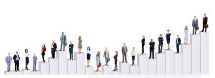 Geschäftsleute Team und Diagramm stockfoto