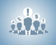Geschäftsleute Teamschattenbilder Lizenzfreie Stockfotografie