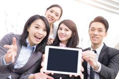 Geschäftsleute Teamshow-Schirm Lizenzfreies Stockbild