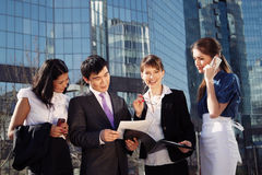 Geschäftsleute Treffen Stockfoto