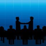 Geschäftsleute Treffen und Händedruck stockfoto