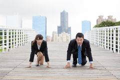 Geschäftsleute und comptition Lizenzfreies Stockfoto