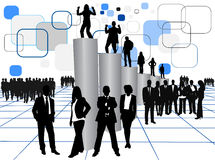 Geschäftsleute und Diagramm Stockbild
