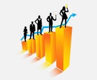 Geschäftsleute und Diagramm Stockfoto