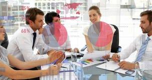 Geschäftsleute und Diagramme 4k lizenzfreie abbildung