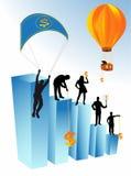 Geschäftsleute und Dollar Lizenzfreies Stockfoto