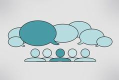 Schließen Sie Gesprächsblasen an Stockbilder