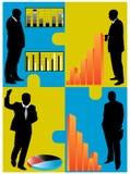 Geschäftsleute und Grafiken Stockbilder