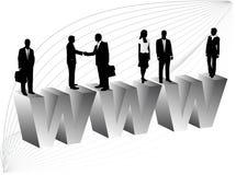Geschäftsleute und Internet Lizenzfreie Stockfotos