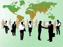 Geschäftsleute und Karte Lizenzfreie Stockfotos