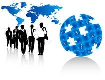 Geschäftsleute und Karte Stockfotos