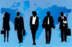 Geschäftsleute und Karte stockfoto