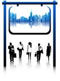 Geschäftsleute und Stadt Stockbilder