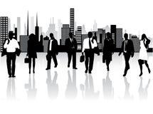 Geschäftsleute und Stadt Lizenzfreie Stockfotos