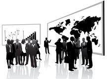 Geschäftsleute und Vortrag Stockfoto