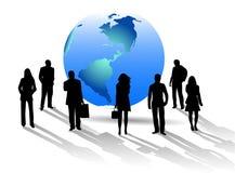 Geschäftsleute und Welt Lizenzfreie Stockfotos