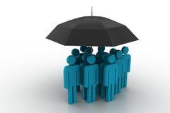 Geschäftsleute unter einem Regenschirm Lizenzfreie Stockbilder