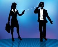 Geschäftsleute Verbindung- Lizenzfreie Stockfotos