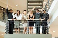 Geschäftsleute Wellenartig bewegen stockfoto