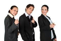 Geschäftsleute zeigen auf Sie: Sie sind das! Stockfotos