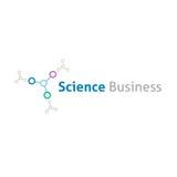 Geschäftslogoschablone der chemischen Wissenschaft Stockfotografie