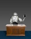 Geschäftslokal-Android-Roboter Stockbilder