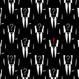 Geschäftsmänner anonym stock abbildung