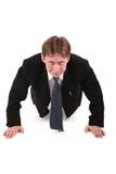 Geschäftsmänner bilden gymnastisch Stockbild