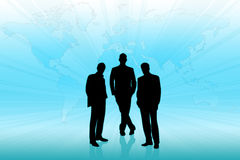 Geschäftsmänner in der Teamwork Stockfotos