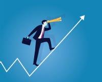 Geschäftsmänner, die auf Erfolgs-Pfeil-Konzept fahren Stockfoto