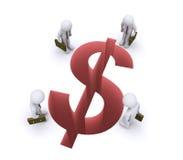 Geschäftsmänner, die entgangenen Gewinn aufpassen Lizenzfreies Stockfoto