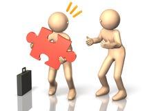 Geschäftsmänner, die guten Rat vom Berater erhalten Lizenzfreie Stockbilder