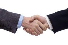 Geschäftsmänner, die Hände rütteln Stockfotografie