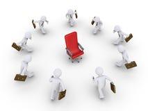 Geschäftsmänner, die laufen, um die Förderung zu erhalten Lizenzfreies Stockbild