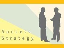 Geschäftsmänner, die Strategie und Erfolg behandeln Lizenzfreies Stockbild