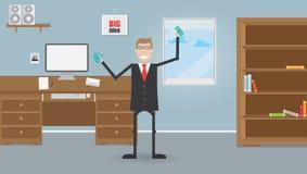 Geschäftsmänner im Büro Stockfoto