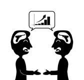 2 Geschäftsmänner machen ein Abkommen lizenzfreie stockfotografie
