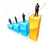 Geschäftsmänner mit Diagrammen Lizenzfreie Stockbilder