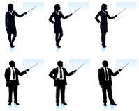 Geschäftsmänner mit Fahnen Lizenzfreie Stockfotografie