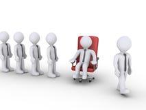 Geschäftsmänner nehmen Wendung, um sich wie ein Chef zu fühlen Lizenzfreie Stockfotografie
