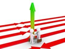 Geschäftsmänner sind sich über allgemeine Lösung einig Lizenzfreies Stockfoto