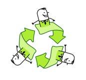 Geschäftsmänner und Ökologie Lizenzfreies Stockbild