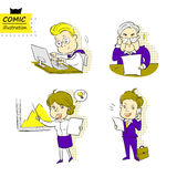 Geschäftsmänner und Geschäftsfrau (Vektor) Stockbild